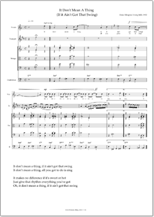 It Don't Mean A Thing Sheet Music