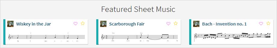 Featured Sheet Music