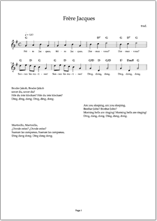 Frere Jacques Sheet Music