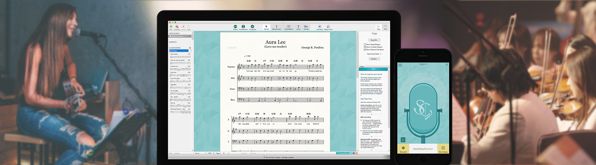 SCORECLOUD | Free Music Notation Software - Music Composition